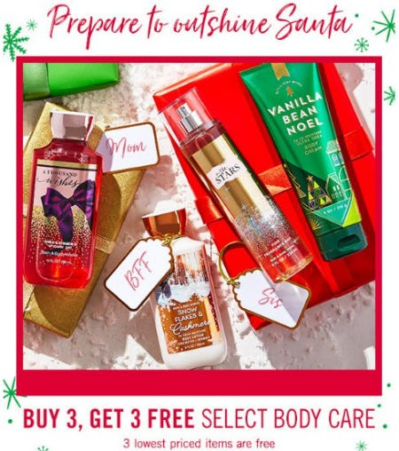 Buy 3, Get 3 Free Select Body Care