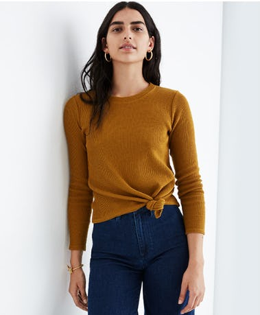 Jacquard Knot Front Top from Madewell