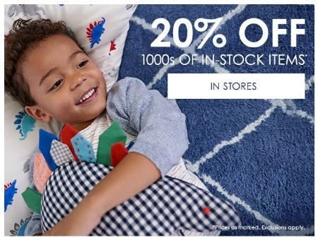 20% Off 1000s of In-Stock Items