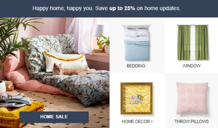 Save Up to 25% Home Sale from Target