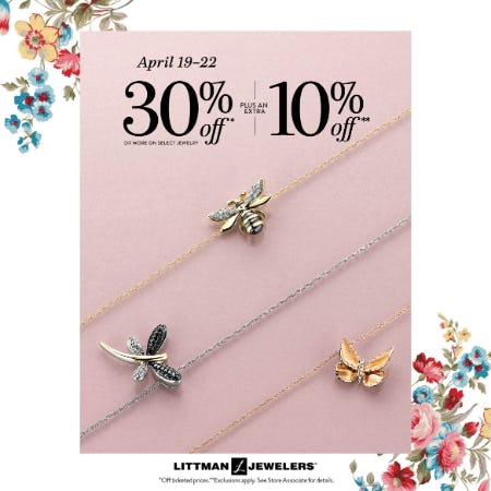 Hop Hop Sale from Littman Jewelers