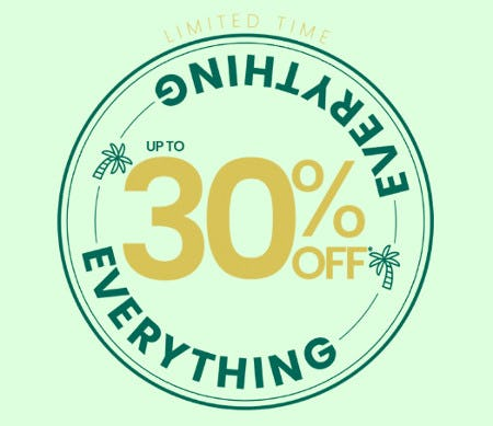 Up to 30% Off Everything from Pacific Sunwear