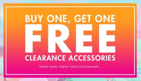 BOGO Free Clearance Accessories