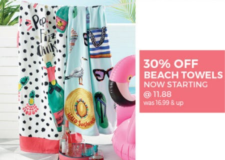 30% Off Beach Towels from Stein Mart