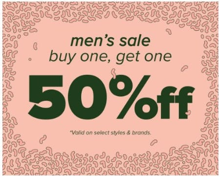Men's Sale: BOGO 50% Off