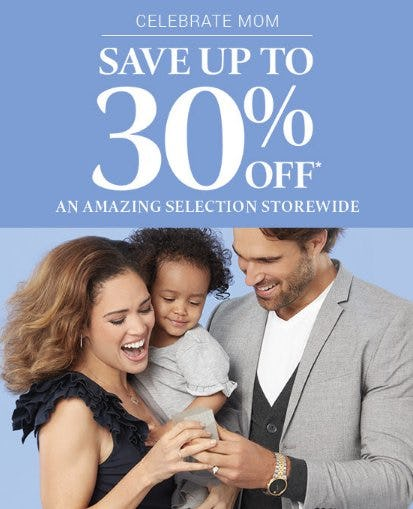 Save up to 30% Off Select Styles