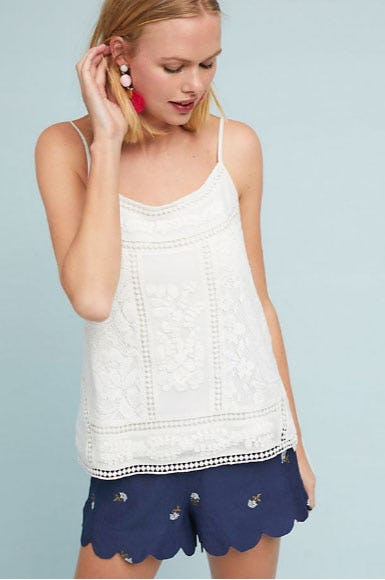 Laney Embroidered Cami from Anthropologie