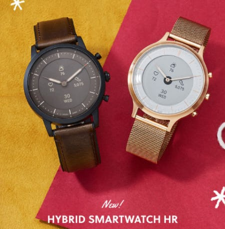 New Hybrid Smartwatch HR from Fossil