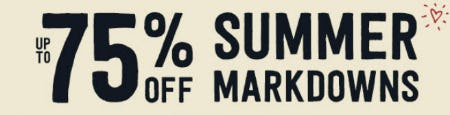 Up to 75% Off Summer Markdowns