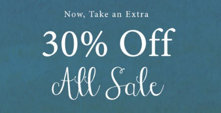 Take an Extra 30% Off All Sale