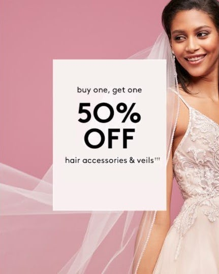 BOGO 50% Off Hair Accessories & Veils from David's Bridal