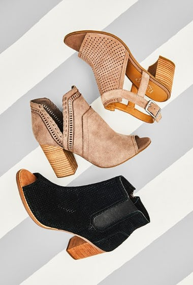 Peep-Toe Booties