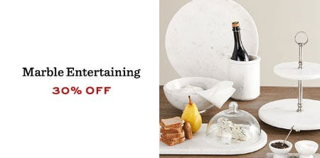 30% Off Marble Entertaining