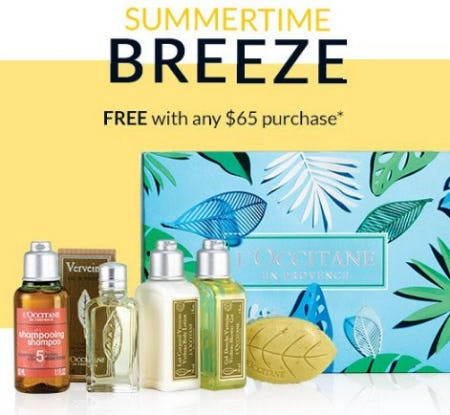Free Gift With Any $65 Purchase