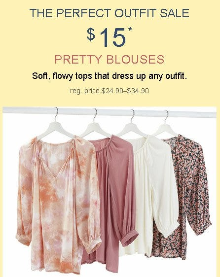$15 Pretty Blouses from maurices