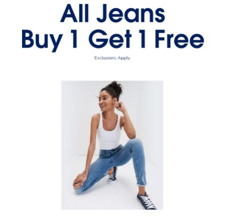 All Jeans Buy 1, Get 1 Free from Aéropostale