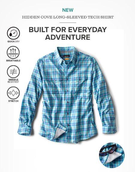 New: Hidden Cove Long-Sleeved Tech Shirt from Orvis