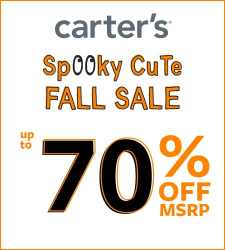 Spooky Cute Fall Sale- Up to 70% Off from Carter's