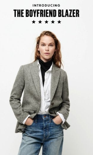 Introducing the Boyfriend Blazer from J.Crew