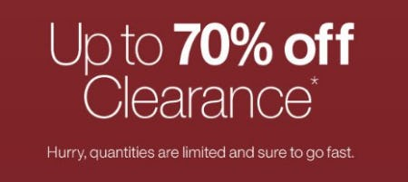 Up to 70% Off Clearance from Crate & Barrel