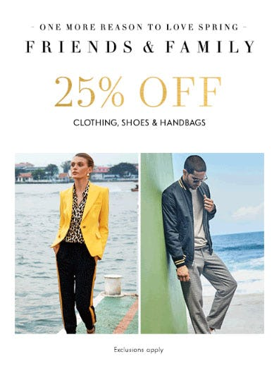 e187f1e893f 25% Off Friends   Family from Neiman Marcus
