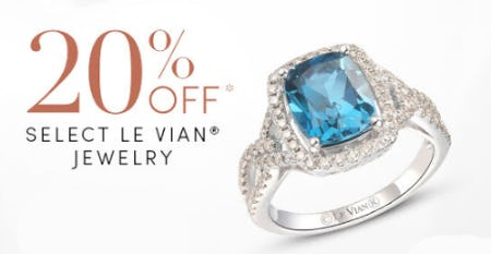 20% Off select Le Vian Jewelry from Jared Galleria of Jewelry