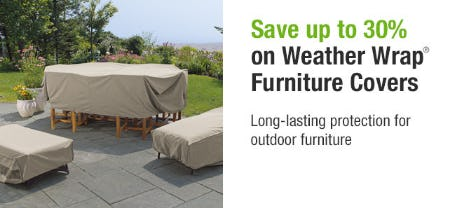 Save Up to 30% on Weather Wrap Furniture Covers from Brookstone