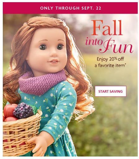 20% Off a Favorite Item from American Girl