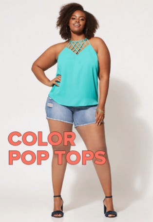 Color Pop Tops from Fashion To Figure