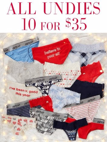 All Undies 10 for $35