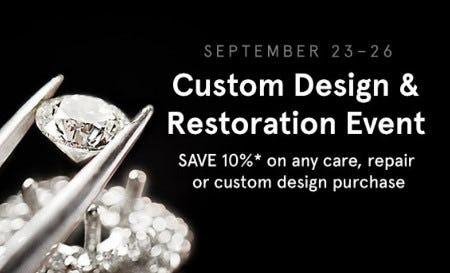 Custom Design & Restoration Event from Kay Jewelers