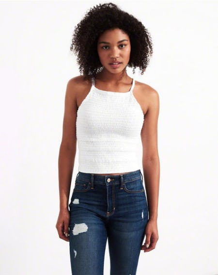 Smocked High-Neck Tank from Hollister Co.