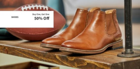 Buy One, Get One 50% Off Shoes from Jos. A. Bank