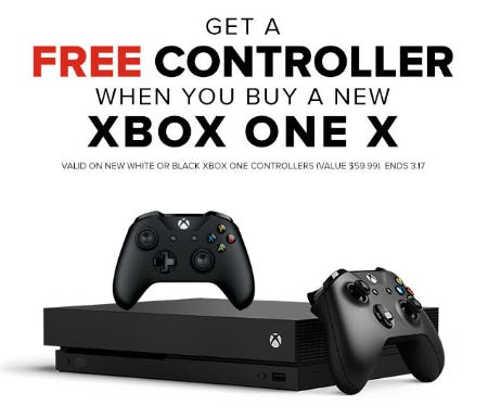 Free Controller with Xbox One X Purchase