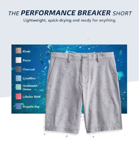 The Performance Breaker Short from vineyard vines