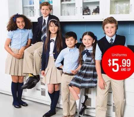 Uniforms and Uniform Polos $5.99 and Up