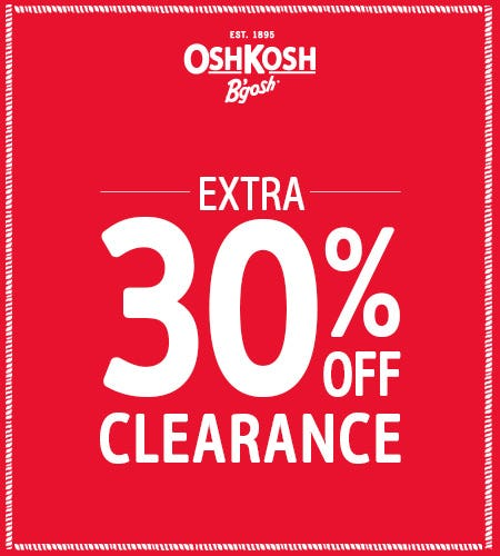 TAKE AN EXTRA 30% OFF CLEARANCE from Oshkosh B'gosh