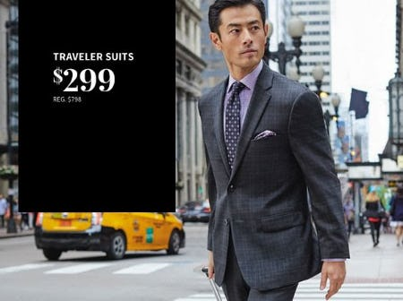 Traveler Suits $299 from Jos. A. Bank