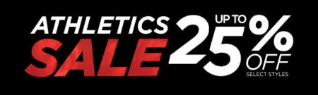Up to 25% Off Athletics Sale