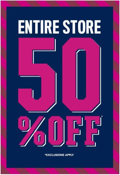 Entire Store 50% Off from The Children's Place
