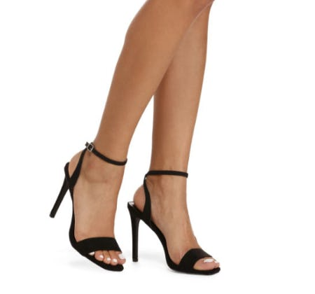 Strapped in Suede Stiletto Heels