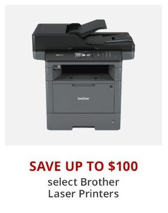 Up to $100 Off Select Brother Laser Printers from Office Depot