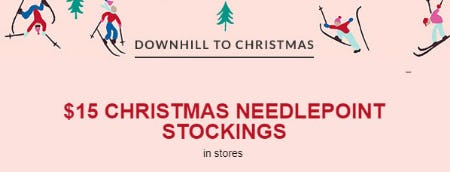 $15 Christmas Needlepoint Stockings