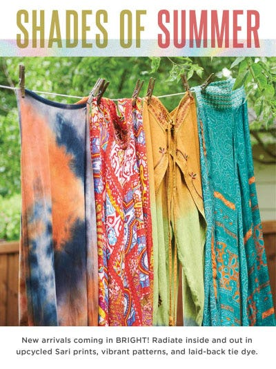 Shades of Summer from Earthbound Trading Co