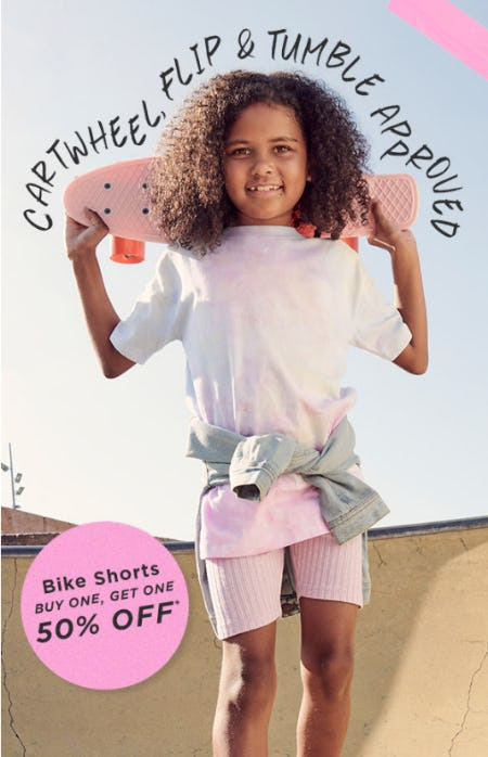 BOGO 50% Off Bike Shorts from Cotton On Kids