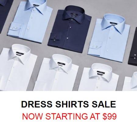 Dress Shirts Sale Starting at $99 from Hugo Boss
