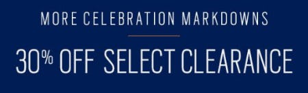 30% Off Select Clearance from Men's Wearhouse