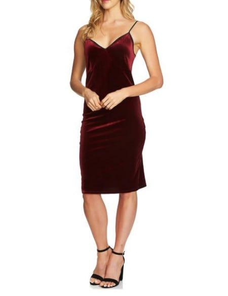 Velvet Slip Midi Dress
