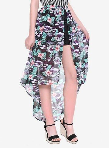 Tropical Maxi Skirt & Short Set from Hot Topic