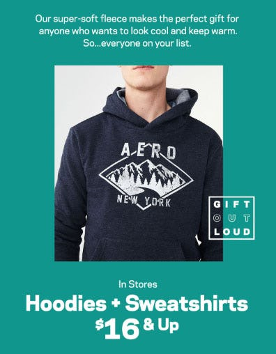 Hoodies & Sweatshirts $16 & Up from Aéropostale